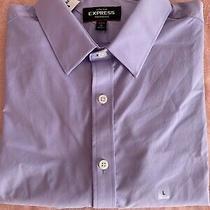 Mesns Expres Slim Purple Dress Shirt Sz L Photo