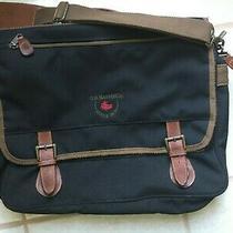 Messenger Bag by G.h. Bass & Co. Canvas & Leather Satchel Briefcase Laptop Bag Photo