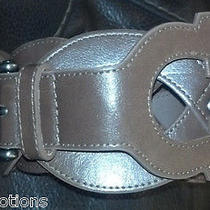 Metal Buckle Ladies Brown Faux Leather Loop Waist Wide Avon Belt New Free Ship Photo