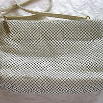 Metal Mesh Handbag Purse Whiting & Davis International Classic 1980's Ivory F/s Photo