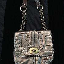 Metalic Fossil Leather Bag Euc Photo