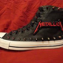 Metaliica Metal Punk Custom Studded Converse Chuck Shirt Sneakers M Shoes Spikes Photo