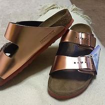 Metallic Copper Leather Birkenstock Photo