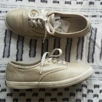 Metallic Gold Keds Champion - Size 5 - Good Condition - Canvas Sneakers Photo