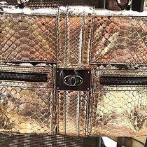 Metallic Lanvin Python Shoulder Bag  Photo