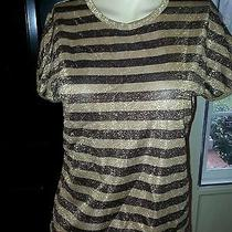 Metallic Stripes the Shirt Top  Photo