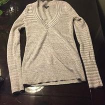 Metallic v Neck Sweater Express Photo