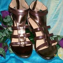 Metallic Zipper Back Microwedge - Brown & Bronze Metallic Size 7 -Avon Photo