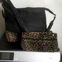Metro Gear Microfiber Hobo Bag With Leopard Print - Excellent Condition Photo