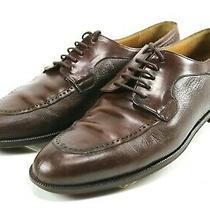 Mezlan Hudson 180 Men's Split Toe Dress Shoes Size 9 Leather Brown Photo