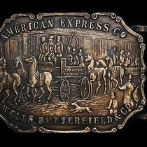 Mf17101 Vintage 1970s American Express Co. Wells Butterfield & Co. Buckle Photo
