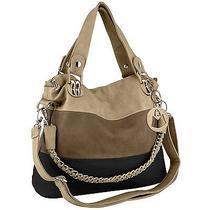 Mg Collection Ece Tri-Tone Hobo Handbag Photo