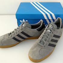 Mi Adidas Miadidas Men's Shoes Sz 11 (Us) Grey Gray Suede W/ Dark Blue Gum Sole Photo