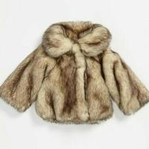 Mia Ruby and Bloom Size 4 Girl Faux Fur Coat  Photo