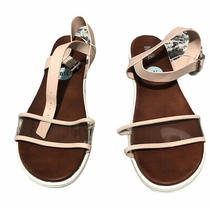 Mia Shoes Womens Michell Blush Leather Ankle Strap Sandals Size 8.5 M Us Photo