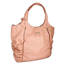 Miadora 'Natasha' Blush Faux Leather Tote Bag Photo