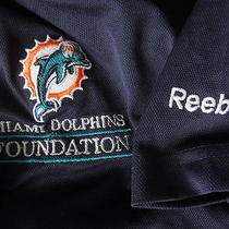Miami Dolphins Foundation  Blue Polo Golf Shirt Adult Men's Xl  Photo