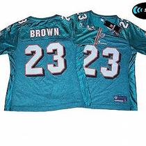 Miami Dolphins Nfl Reebok Womens  Jersey..small...features All-Pro Ron Brown 23 Photo