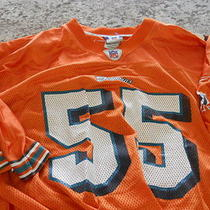 ------ Miami Dolphins Orange  Junior Seau Nfl Jersey Adult Men's Xl Photo
