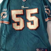 Miami Dolphins Porter 55 Onfield Nfl Football  Jersey Size L (14-16) Youth  Photo