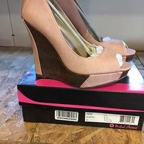 Michael Antonio Andie Blush Wedges Pumps New in Box Size 7  65 Retail Photo