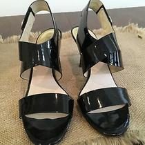 Michael Kora Womens Patent Leather Dress Sandals   3 Heels Size 11m Photo