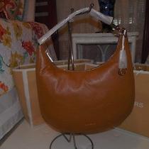 Michael Kors Acorn Luggage Brown Pebble Leather Lydia Large Hobo Shoulder Tote  Photo