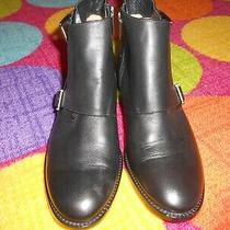Michael Kors Adams Monk Strap Bootie Leather Black Ankle/short Boot Size 8.5 Photo
