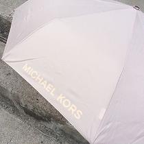 Michael Kors Automatic Umbrella Blush Pink 58 Photo