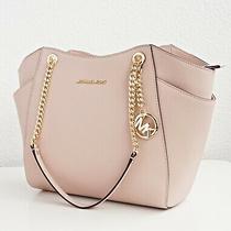 Michael Kors Bag Handbag Jet Set Travel Chain Powder-Blush New Photo