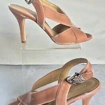 Michael Kors Becky Heels Sandals Slingback Velvet Blush Pink Strappy Sz 8.5 New Photo