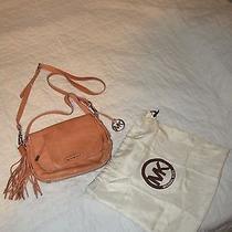 Michael Kors Bedford Pink Blush Leather Tassel Pocket Flap Shoulder Tote Bag  Photo