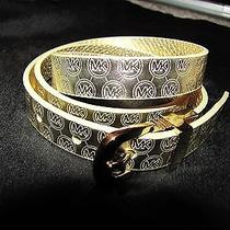 Michael Kors Belt Signature Gold in M Photo