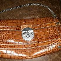 Michael Kors Berkley Clutch Brown Genuine Leather Photo