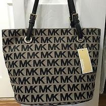 Michael Kors Black and Gray Bag Handbag Purse Photo