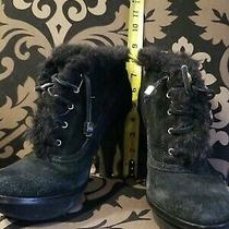 Michael Kors Black Ankle High Leather Women Boots Size 8 Photo