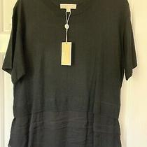Michael Kors Black Cashmere Mix Top-  Size L Brand New & Genuine Photo