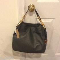 Michael Kors Black Ines Large Hobo Bag Gold Hardware Nwt Photo