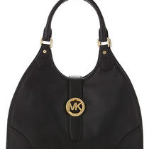 Michael Kors Black Large Hudson Hobo Bag Retails 378.00 Photo
