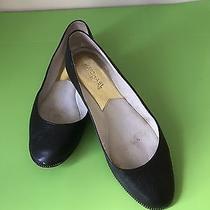 Michael Kors Black Leather Flats 61/2m A013d Photo