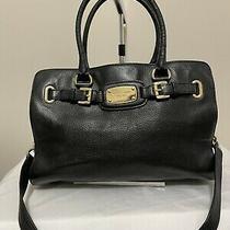 Michael Kors Black Leather Satchel or Shoulder Bag Purse Handbag. Photo