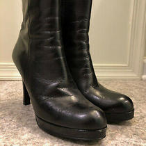 Michael Kors Black Platform Boots Sz 7.5 Photo