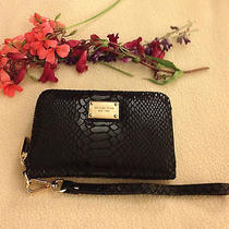 Michaelkors Black Python Essential Iphone 5 Zip Wallet Photo