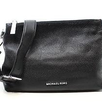 Michael Kors Black Silver Zip Jane Hobo Shoulder Bag Leather Purse 298 051 Photo
