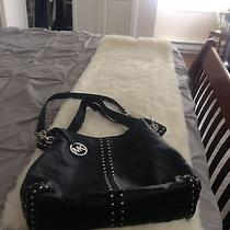 Michael Kors Black Uptown Astor Stud Purse Photo