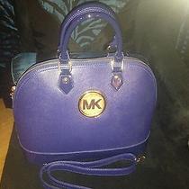 Michael Kors Blue Handbag Photo