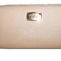 Michael Kors Blush Grain Leather Zip-Around Tech Clutch Wallet  Nwt Photo