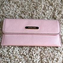 Michael Kors Blush Pink Leather Flat Continental Wallet Photo
