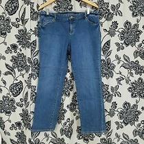 Michael Kors Boot Cut Stretch Blue Jeans Womens 14p Photo
