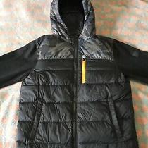Michael Kors Boys 14/16 Winter Fall Down Jacket Camo Black Blue Photo